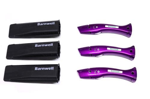 Barnwell Pack of 3 Dolphin Knives and Holster - Candy Violet